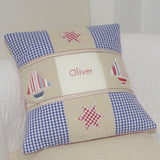 Appliqued Name Cushion