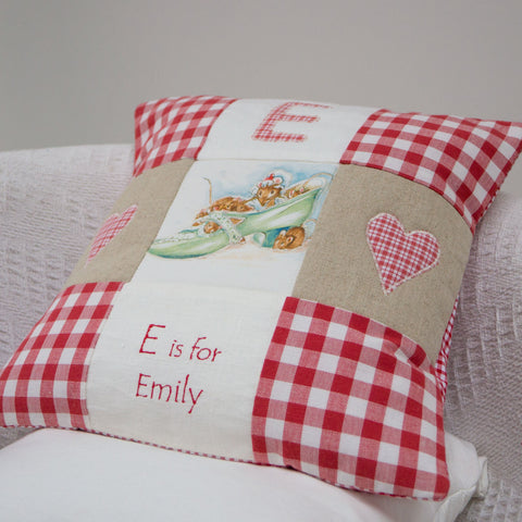 Beatrix Potter Alphabet Cushion Red - Emily