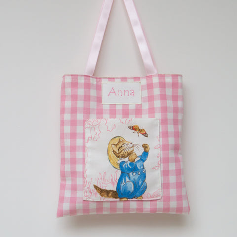 Beatrix Potter© Personalised Gingham Bag