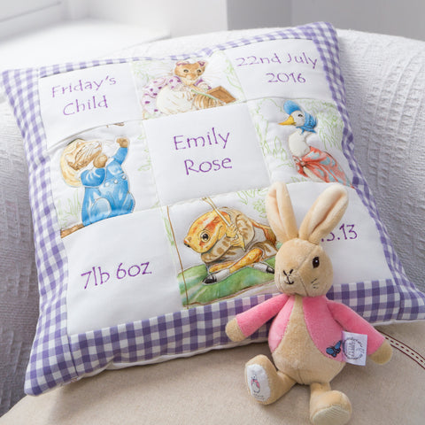 Beatrix Potter© Memory Cushion Lilac