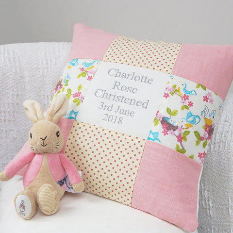 Blue Bird Occasion Cushion Pink