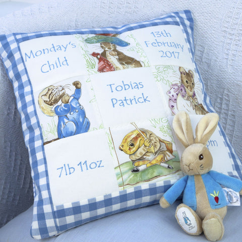 Beatrix Potter© Memory Cushion Blue