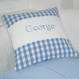 Gingham Name Cushion