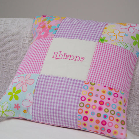 Funky Patchwork Cushion - Rhianna