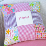 Funky Embroidered Name Cushion