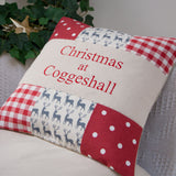 'Christmas At...' Reindeer Cushion