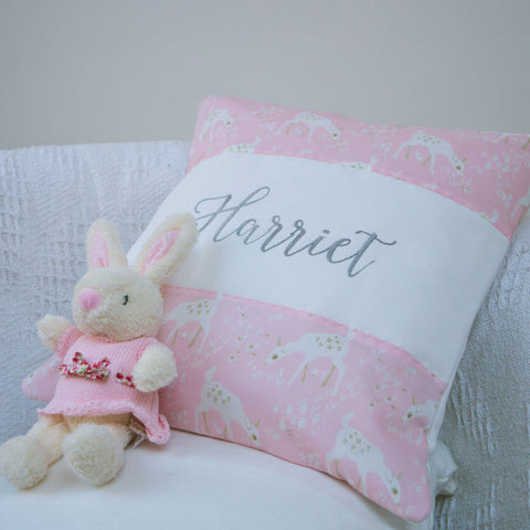 Little Deer Name Cushion