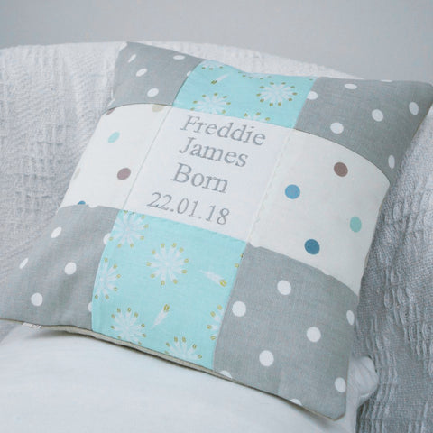 Spotty Occasion Cushion Mint