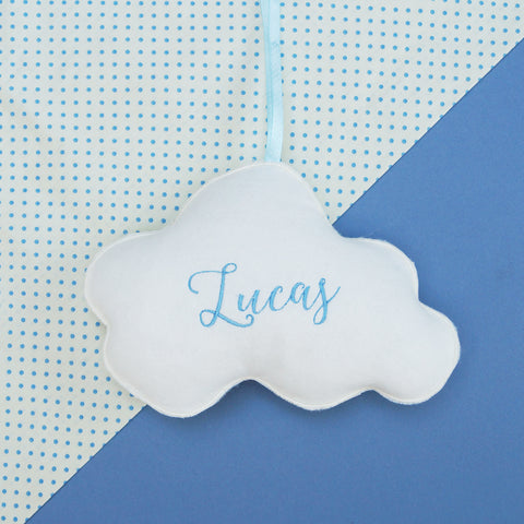 Little Felt Name Cloud Blue