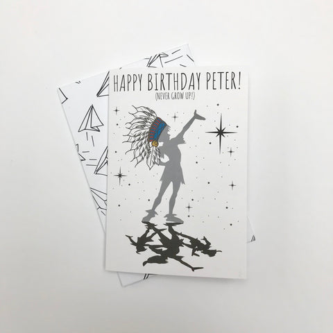 Personalised Peter and the Shadows Greeting Card
