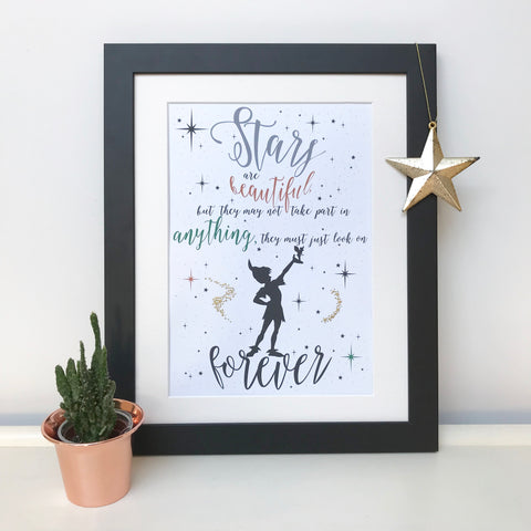 Stars Are Beautiful Peter Pan Print