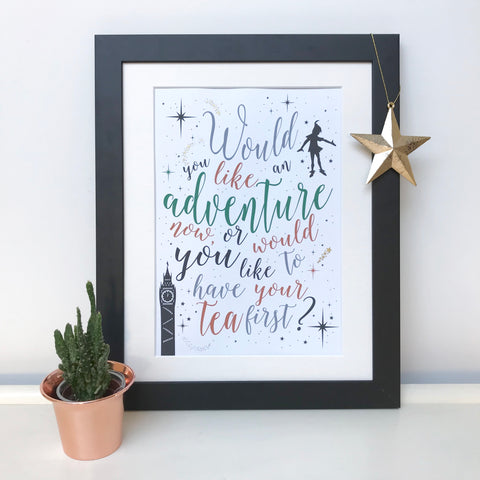 Would You Like An Adventure Peter Pan Print