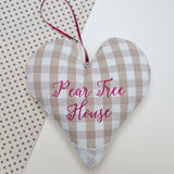 Gingham Couple's Cushion Natural
