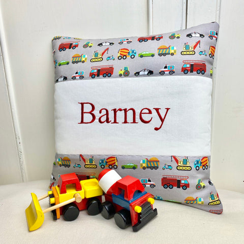 Transport name cushion