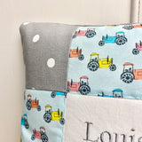 Tractor name cushion