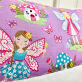 Purple fairy name cushion