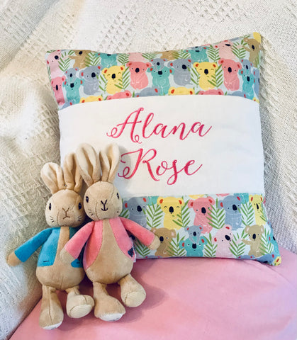 Koala name cushion