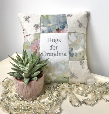 Hugs for Grandma cushion
