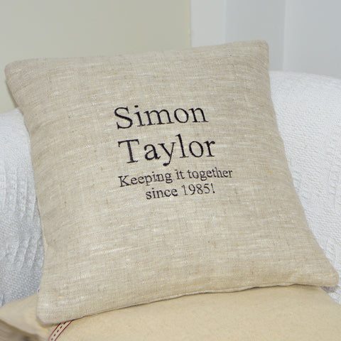 'Keeping It Together' Cushion