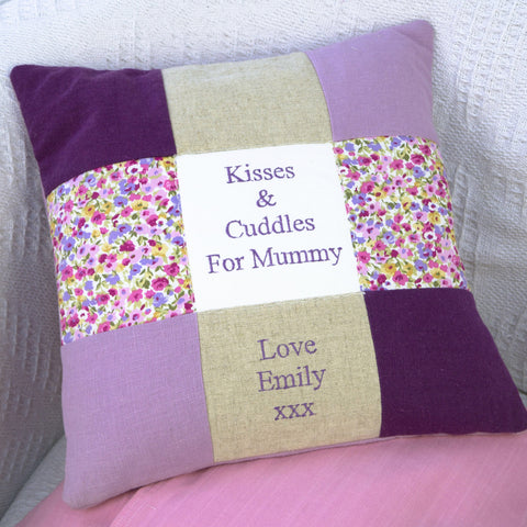 'Kisses and Cuddles for Mummy' Cushion
