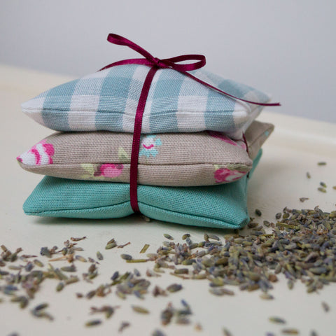 Gingham Lavender Bundle Duck Egg Blue