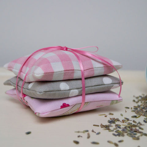 Gingham Lavender Bundle Pink