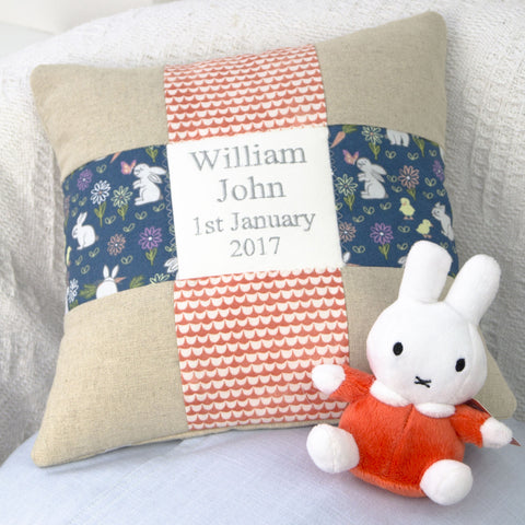 Miffy Name and Date Cushion