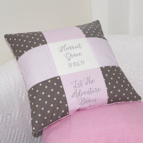 Personalised Baby's Adventure Cushion