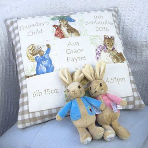 Beatrix Potter© Memory Cushion Natural