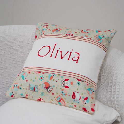 Owls Name Cushion - Olivia