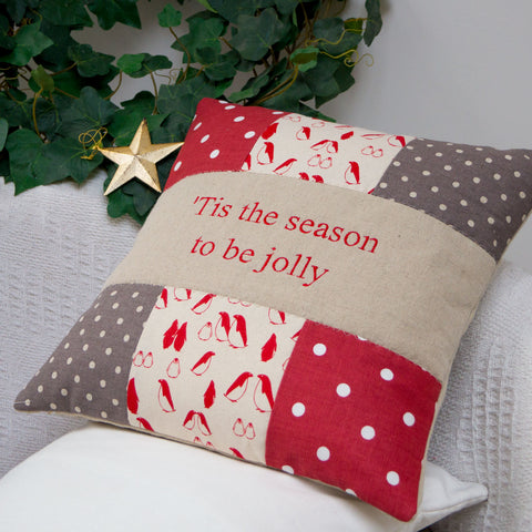 Penguin Christmas Cushion