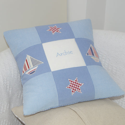 Personalised Name Cushion Blue