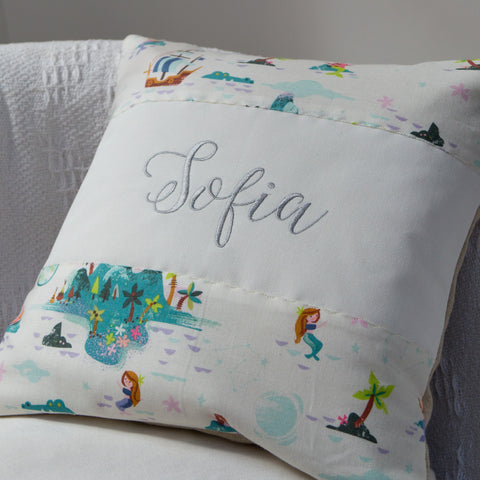 Peter Pan Mermaid Lagoon Cushion