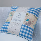 Peter Rabbit© Alphabet Cushion Gingham Pink