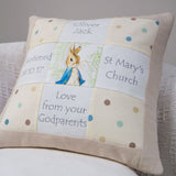 Peter Rabbit© Christening Memory Cushion*