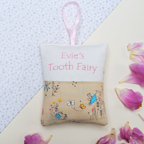 Peter Rabbit Tooth Fairy Bag Pink