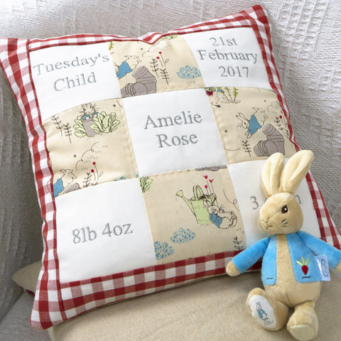 Peter Rabbit© Memory Cushion Red
