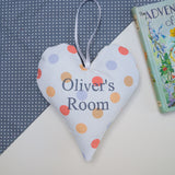 Polka Dot Name Heart Orange