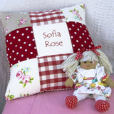 Red Patchwork Cushion