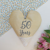 Silk Anniversary Heart Gold