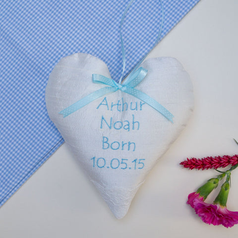 Silk Occasion Heart Blue
