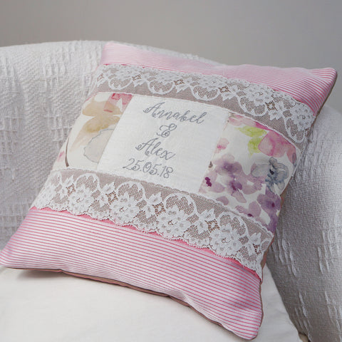 Silk Floral Wedding Cushion