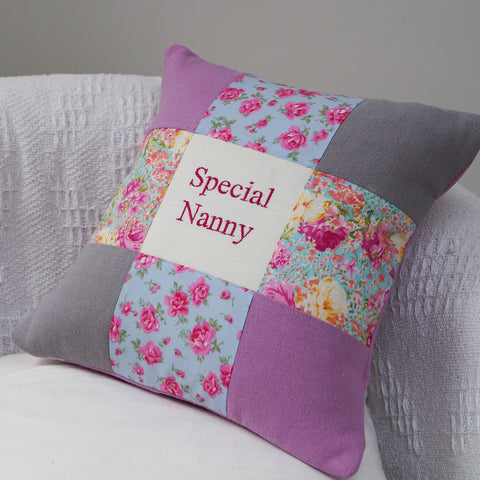 Special Nanny Cushion Rose & Grey
