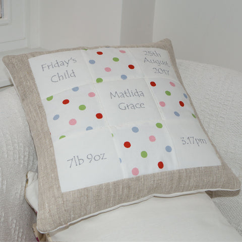Spotty Memory Cushion
