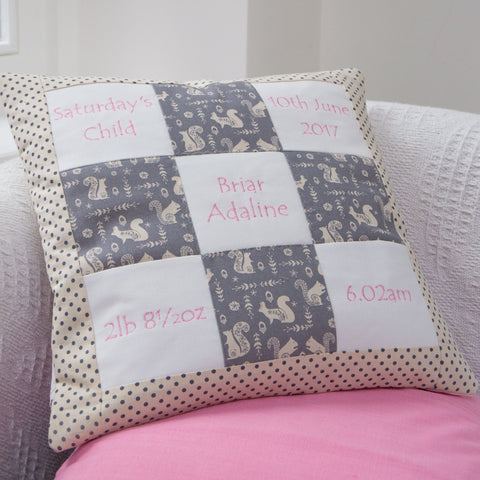 Grey Squirrel Memory Cushion