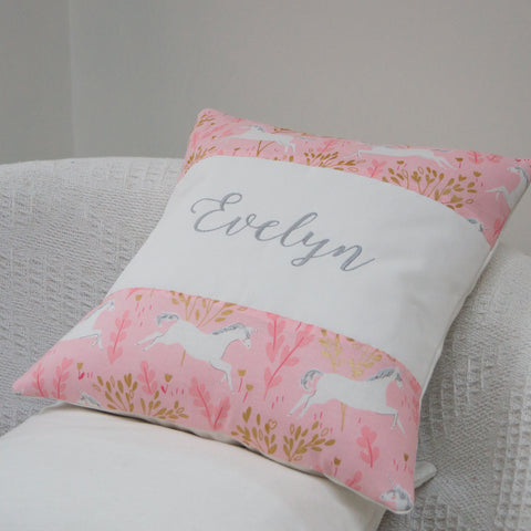 Unicorn Name Cushion