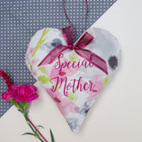 Floral Mother Heart Dark Pink