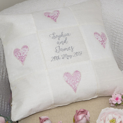 Silk Wedding Cushion