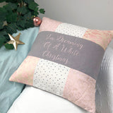 'I'm Dreaming...' Pink Christmas Cushion