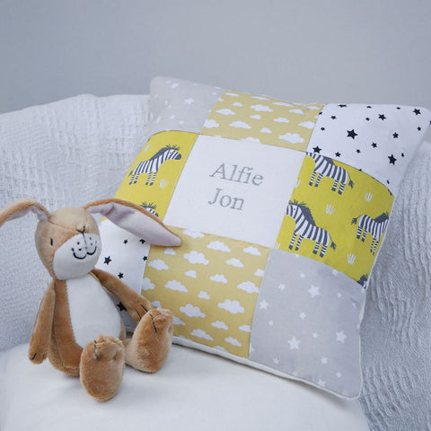 Zebra Name Cushion